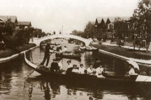 Canal with gondolas