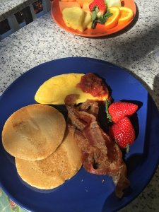 pancake breakfast with bacon