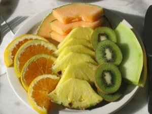 fruit plate with oranges