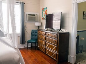 dresser with flatscreen TV
