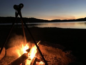 Campfire by the Lake