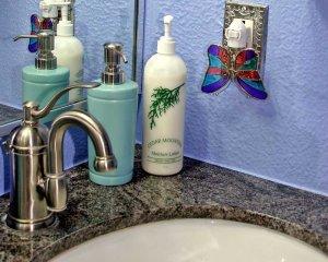 Handsoap on Bathroom Counter