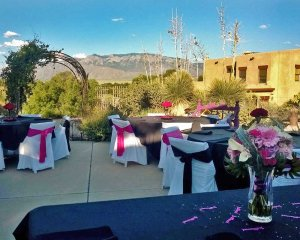 Tables Decorated for Wedding