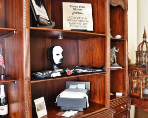 Bookshelf with Phantom's Mask