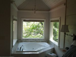 two person bath with windows