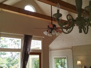 vaulted ceilings with exposed timbers