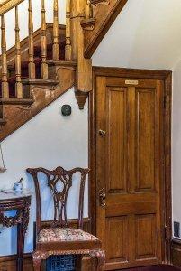 door under the stairs