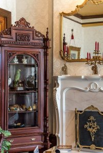 Cabinet of Curiosities Near Mantle