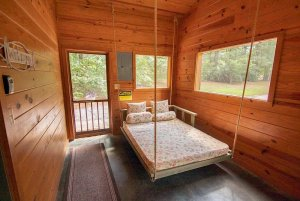 Swing Bed in Cabin