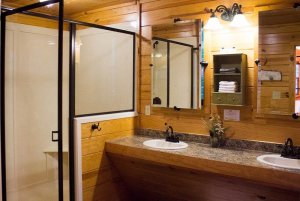 Shower Near Bathroom Sinks