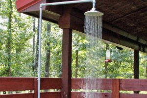 Overhead Outdoor Shower