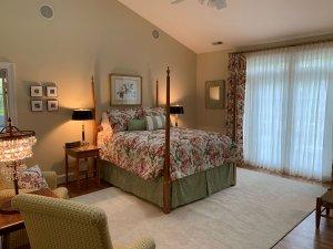 Floral Bedding set on four-poster bed