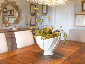 Decorative bowl on dining table