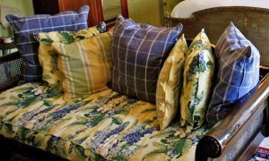 Floral Couch with Pillows