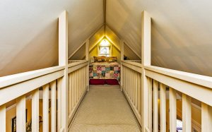 Loft walkway leading to bed