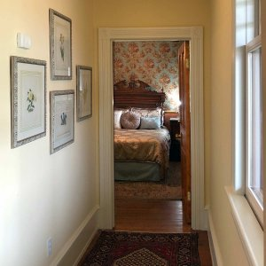 Hallway with doorway to bedroom