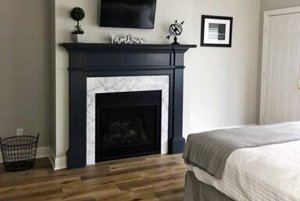 Gas Fireplace Near Bed