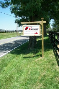 Mercury Equine Center Signpost