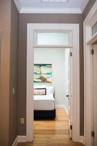 Door to bedroom in hallway