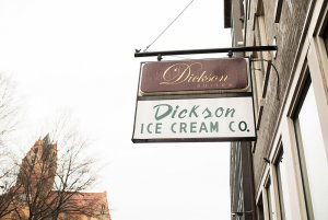 Dickson suites sign on building outside