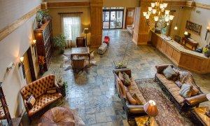 Lobby floor viewed from balcony