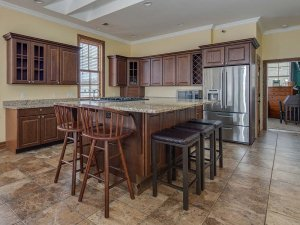 bar stools around kitchen island
