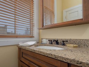 Sink countertop and mirror