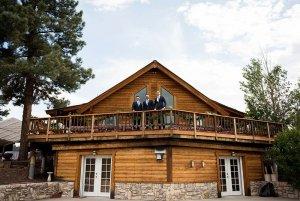 groomsmen on a balcony