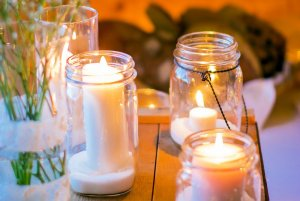 country jar candles with handles