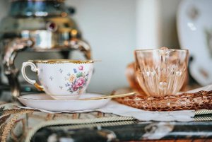 Closeup of teacups next to each other on a surface