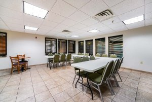 dining tables and chairs in a group