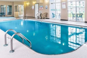 indoor pool with ladder