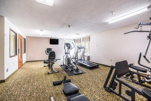 fitness room at hotel