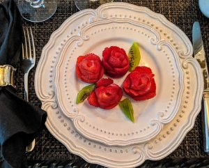 Plated Strawberry Roses