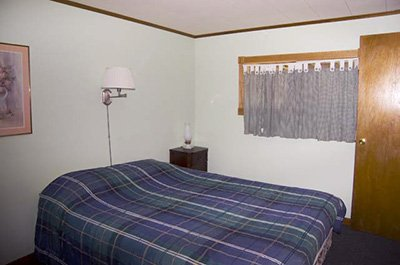 bed in Carriage House cottage in Weyside Inn in Big Indian, New York
