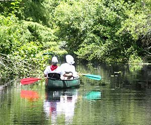 canoeing in Kicakpoo Valley in Southwest Wisconsin