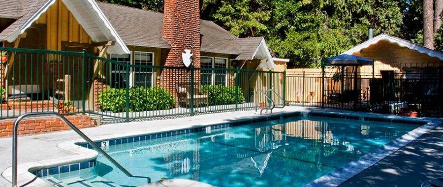 Pool at Arrowhead Tree Top Lodge in Lake Arrowhead, California