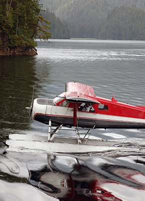 Airplane on the lake
