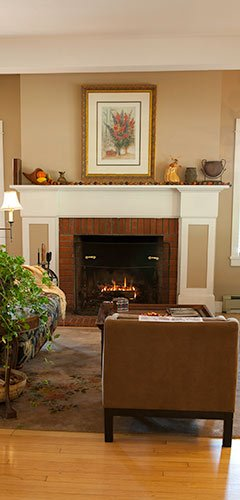 Fireplace at The Inn at Ellsworth