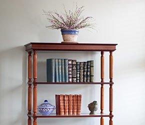 Bookshelf at Inn at Camden Place