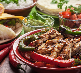 Fajitas at On The Border Grill
