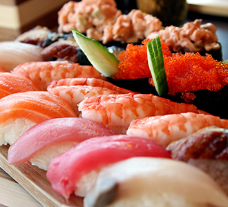 Sushi at Minado sushi and seafood buffet