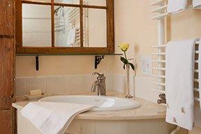 Southwest chamber bathroom at Simeon Potter House