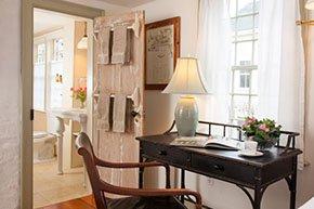 Teak wood desk at Simeon Potter House