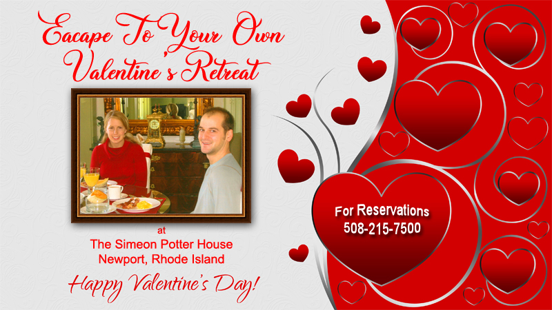 valentines day specials at Simeon Potter House Newport RI