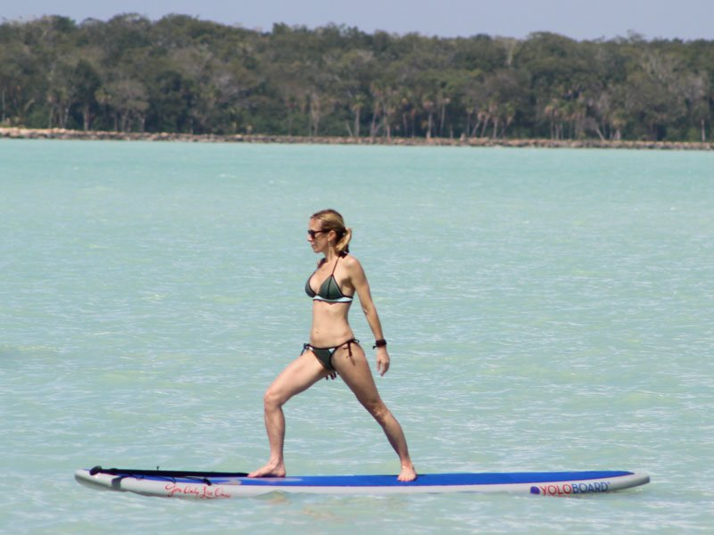 Paddleboard Yoga in Belize