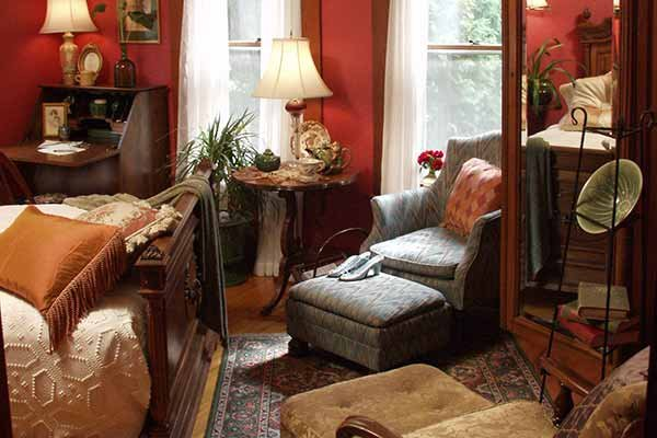 The Rose Room at Albany House Bed and Breakfast in Albany, WI