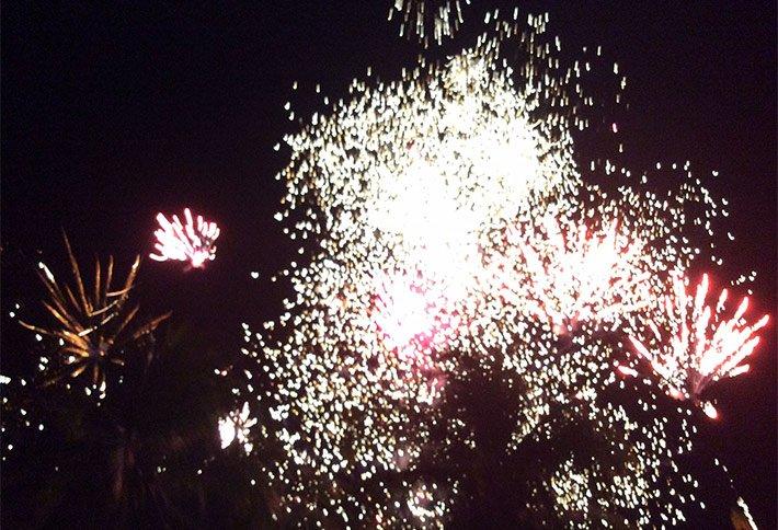 fireworks at a wedding at la gaviota tropical