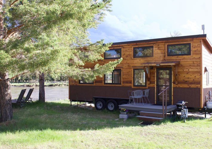 A tiny home on the yellowstone river