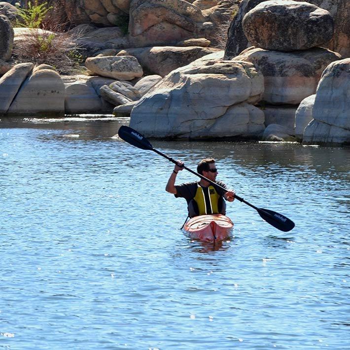 Kayaking near Gold Mountain Manor in Big Bear Lake, CA